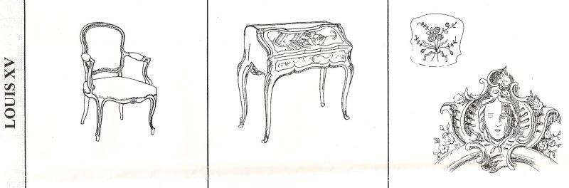 Les styles en b nisterie un peu de tout du rire et du for Dessin de construction du meuble